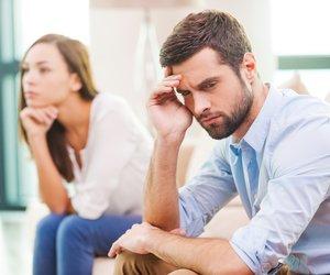 Paar unglücklich