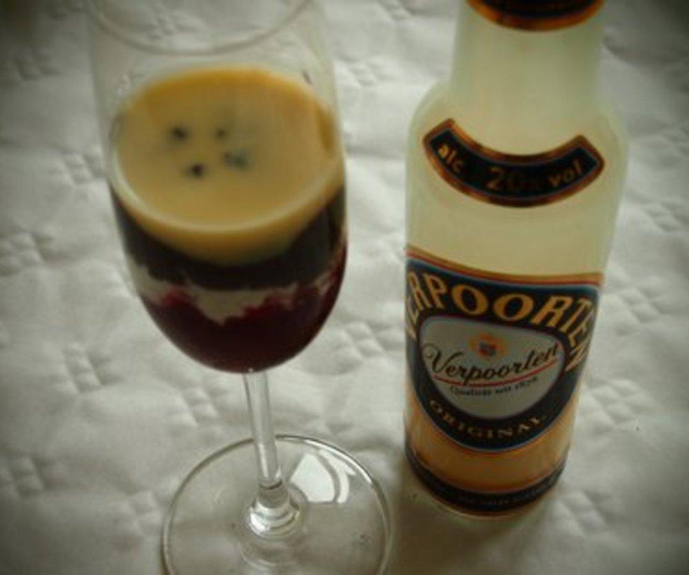Dessert mit Eierlikör