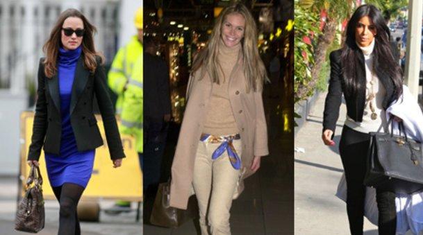 Voll im Trend: Pippa Middleton, Elle McPherson und Kim Kardashian