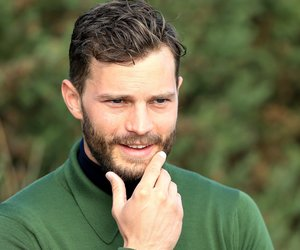 KINGSBARNS, SCOTLAND - OCTOBER 03: Jamie Dornan the film actor waiting on the 12th tee during the third round of the 2015 Alfred Dunhill Links Championship at Kingsbarns on October 3, 2015 in Kingsbarns, Scotland. (Photo by David Cannon/Getty Images)