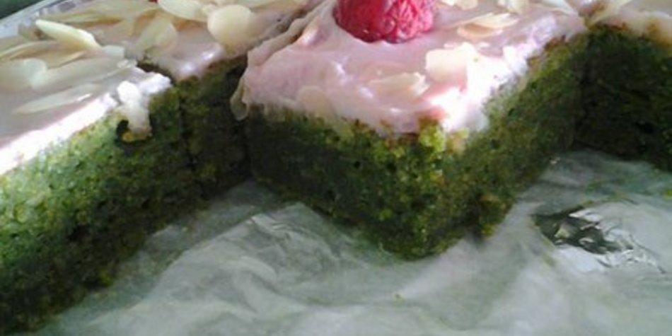 Spinat-Mandel-Himbeer Kuchen mhhh :)