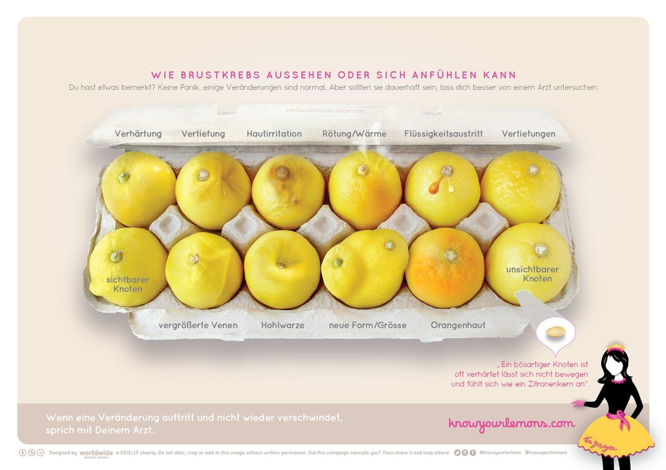 Brustkrebs anhand von Zitronen erkennen