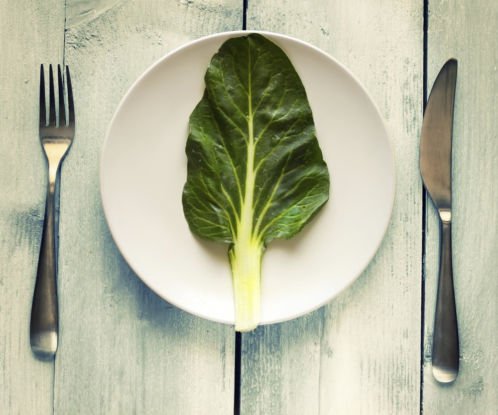 Photo of salad leave on a plate