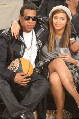 Beyonce Knowles und Jay-Z zusammen bei einem NBA Spiel