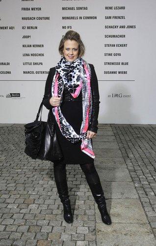 Barbara Schöneberger auf der Fashion Week