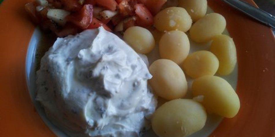Ofenkartoffeln mit MILRAM Quark