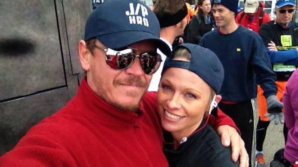 Pamela Anderson ist den New York Marathon gelaufen