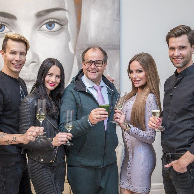 "V.l.: Florian Wess, Nicole Mieth, Markus Majowski, Gina-Lisa Lohfink und Alexander ""Honey"" Keen"