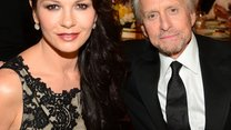 HOLLYWOOD, CA - JUNE 05: Actors Catherine Zeta-Jones (L) and Michael Douglas attend the 2014 AFI Life Achievement Award: A Tribute to Jane Fonda at the Dolby Theatre on June 5, 2014 in Hollywood, California. Tribute show airing Saturday, June 14, 2014 at 9pm ET/PT on TNT. (Photo by Frazer Harrison/Getty Images for AFI)
