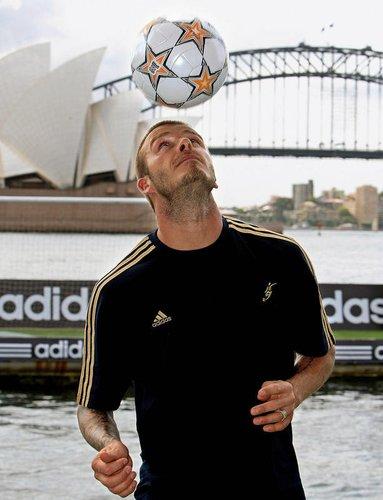 David Beckham trainiert in Sydney