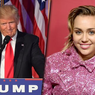 161110_EL_DonaldTrump&MileyCyrus_JIM WATSON_AFP_GettyImages&DaveKotinsky_GettyImagesForTheONECampaign