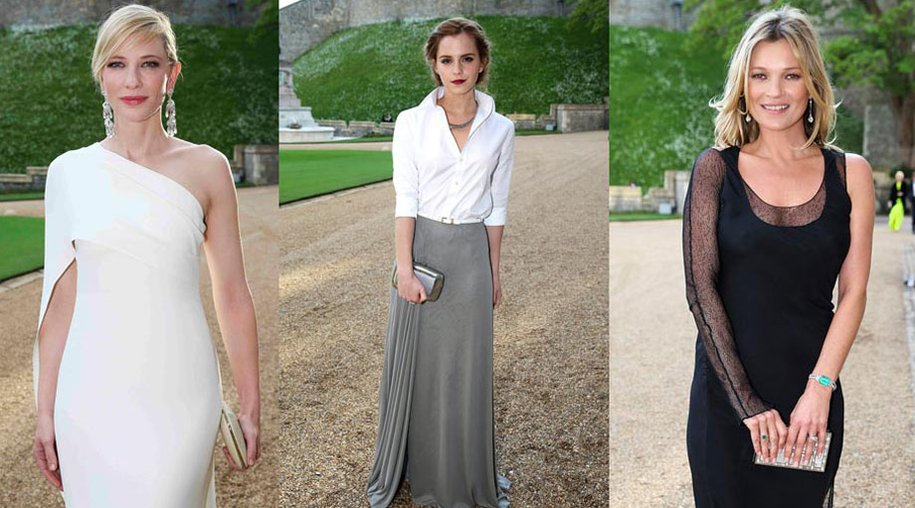 Cate Blanchett, Emma Watson und Kate Moss beim Charity-Event auf Schloss Windsor