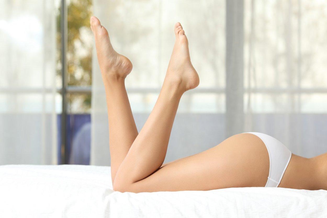 Glatte Beine