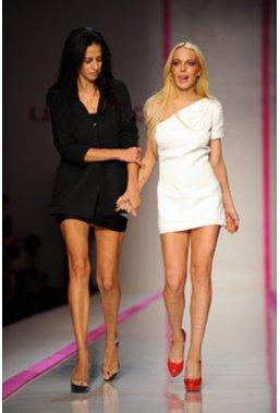 Fashion Week: Lindsay Lohan und Estrella Archs.