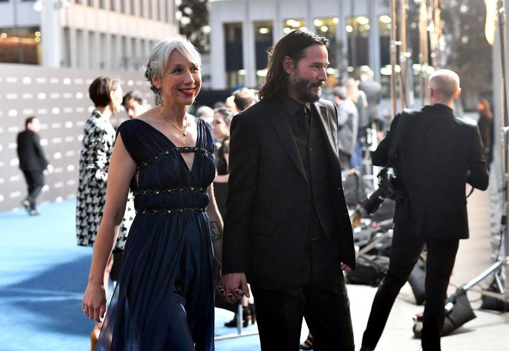 Keanu Reeves und seine Partnerin Alaxandra Grant