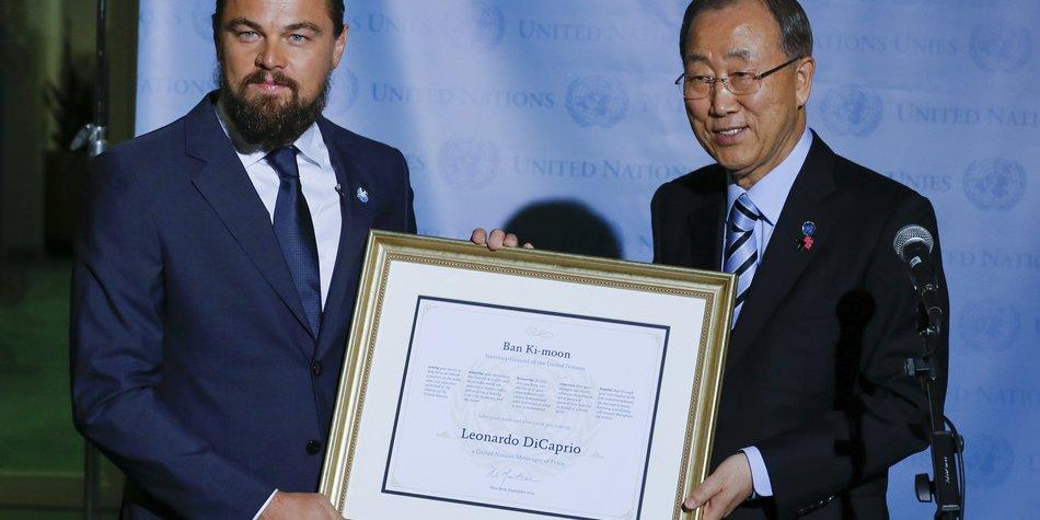 Leonardo DiCaprio ist nun offiziell UN-Botschafter