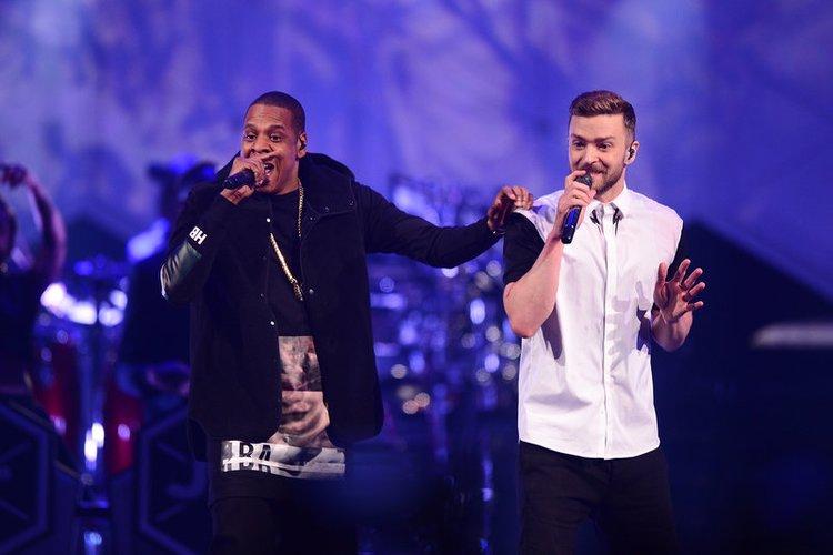 Justin Timberlake und Jay-Z on stage