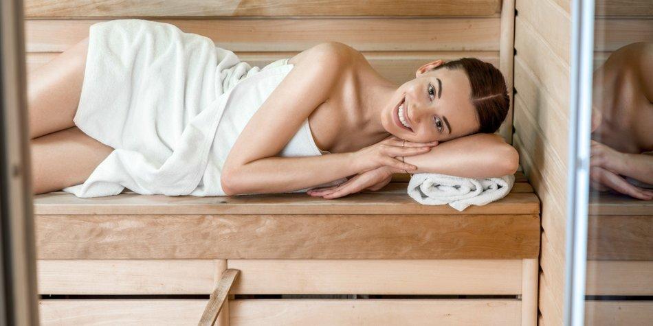Mit Erkältung in die Sauna