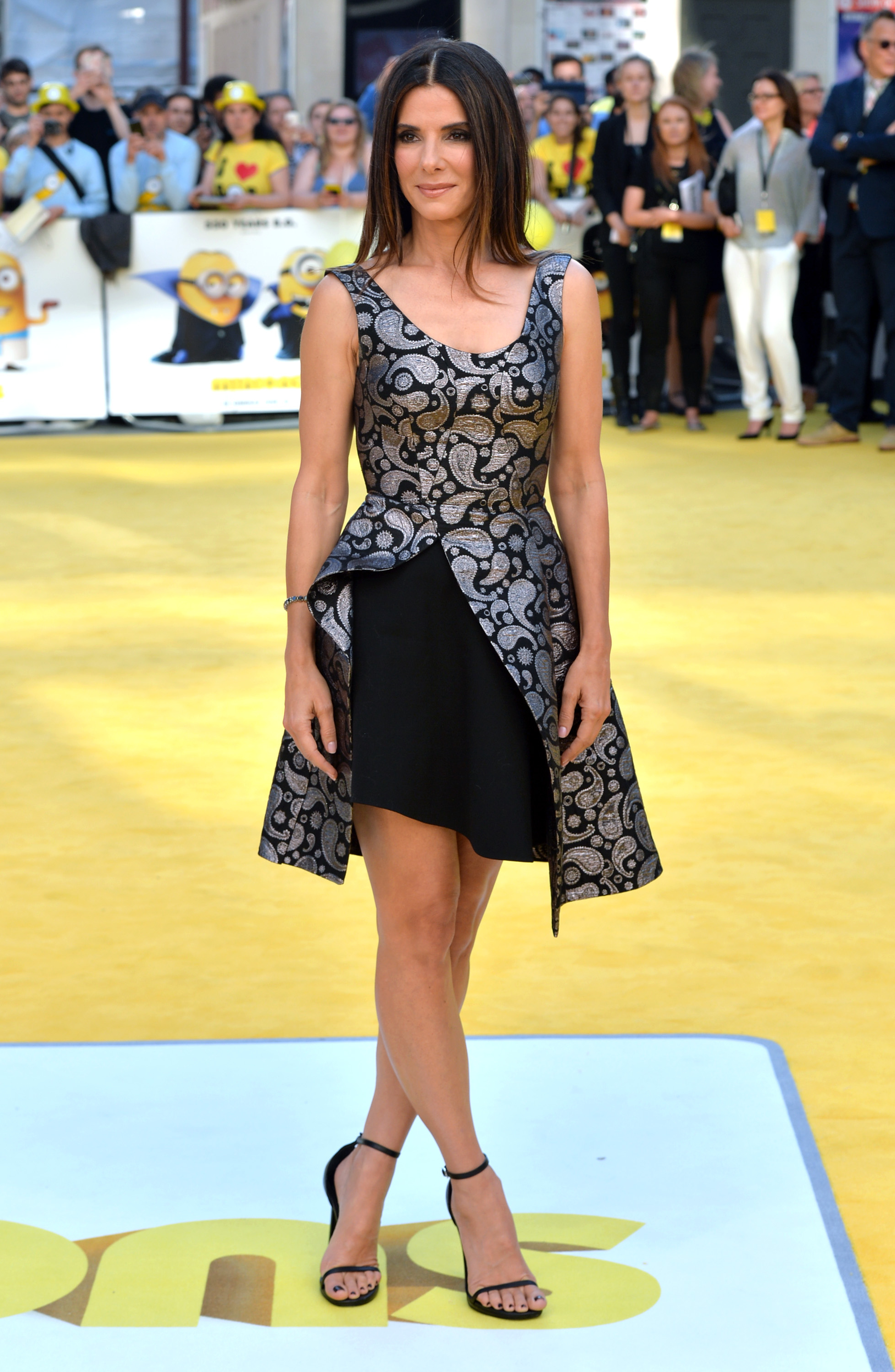 """LONDON, ENGLAND - JUNE 11:  Sandra Bullock attends the World Premiere of """"Minions"""" at Odeon Leicester Square on June 11, 2015 in London, England.  (Photo by Anthony Harvey/Getty Images)"""