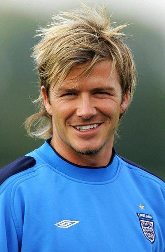 David Beckham beim Fußballtraining in England