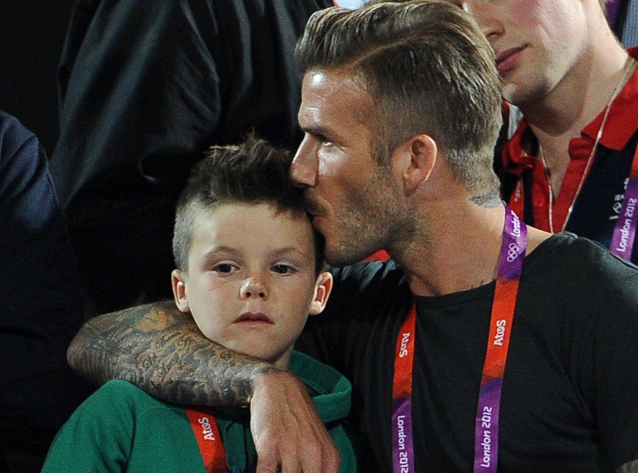 David Beckham Tochterkuss