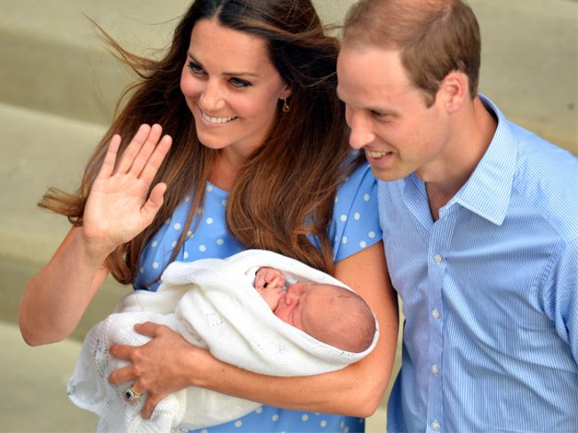 William und Kate mit Baby