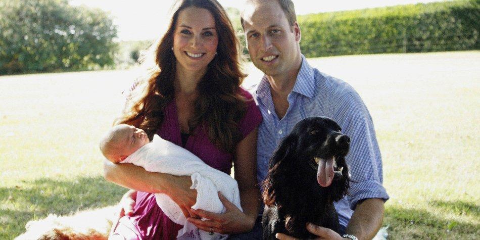 Kate Middleton und Prinz William veröffentlichen erste offizielle Familienfotos