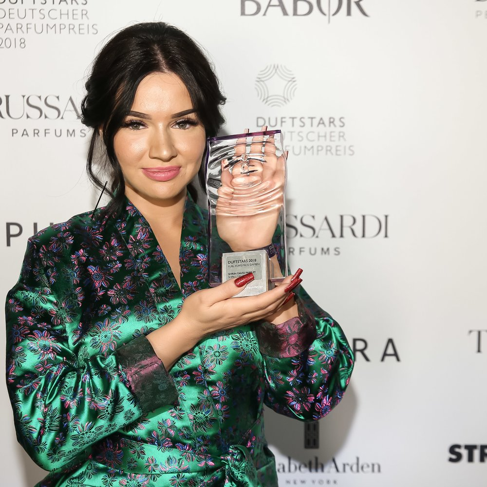 Shirin David Created by the Community von Shirin David, Preistraeger in der Kategorie Publikumspreis Damen Duftstars Deutscher Parfumpreis 2018 Foto: Markus Nass fuer Fragrance Foundation