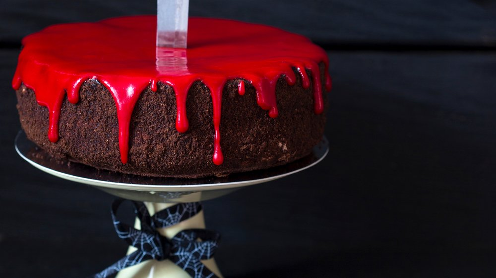 Blutiger Halloween-Kuchen