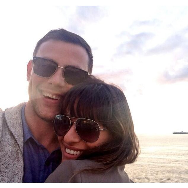 Lea Michele und Cory Monteith am Strand