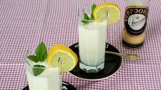 Pfirsich-Bananen-Smoothie mit Mandel und Verpoorten