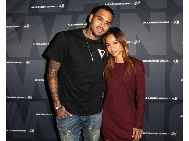 Chris Brown und Karrueche Tran posieren bei einem Event