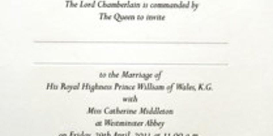 Prinz William & Kate Middleton: Das ist ihre Hochzeitseinladung!