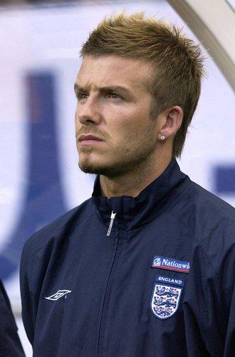 David Beckham auf der Bank