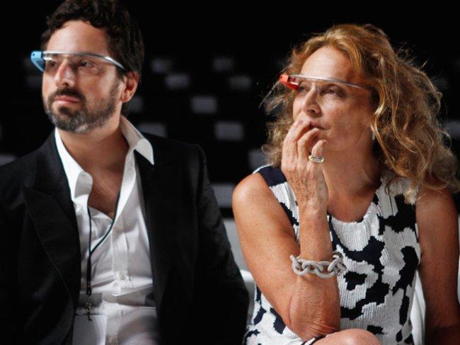 Google-Gründer Sergey Brin und Diane von Fürstenberg
