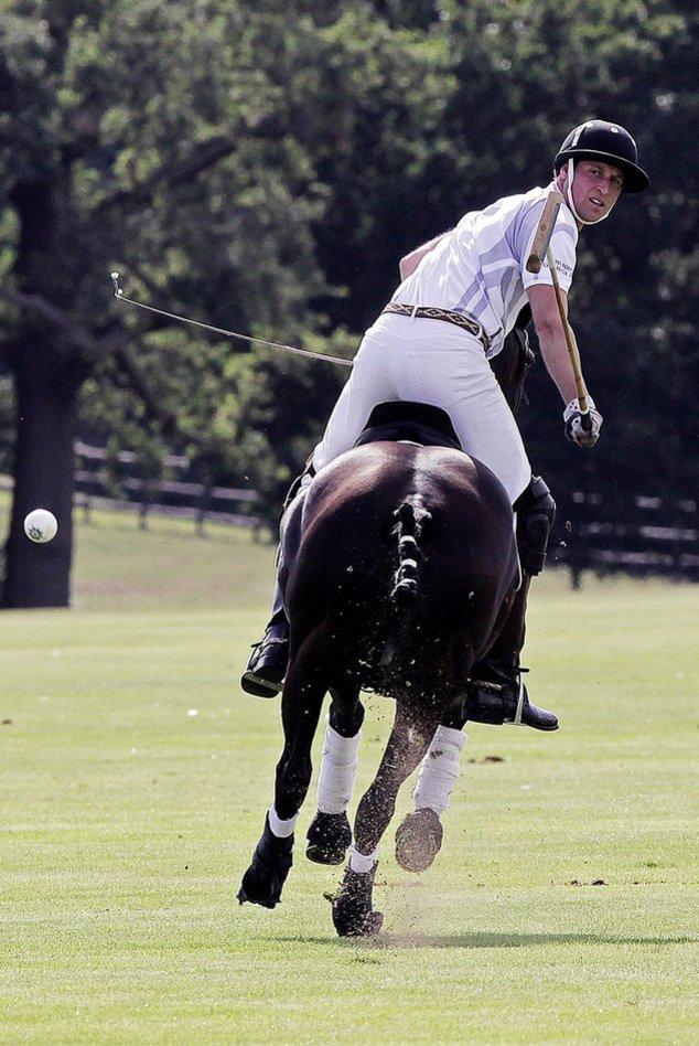Prinz William beim Charity-Poloturnier