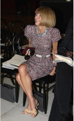 Anna Wintour auf der Fashion Week London 2010