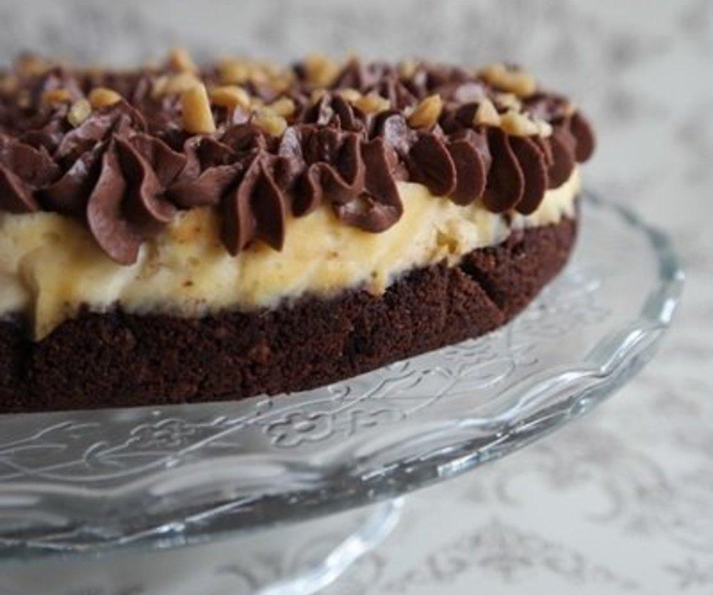 Snickers Cheesecake: Schokoladig, cremig, knackig