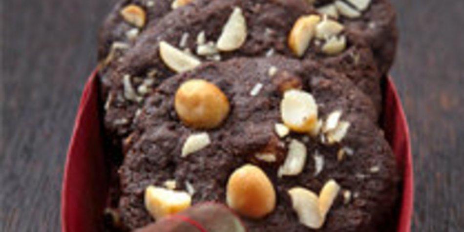 Australische Macadamia-Sckoko-Cookies