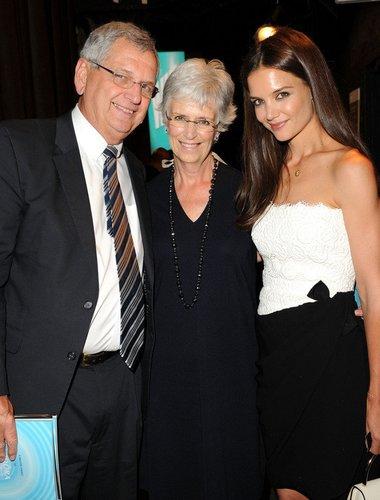 Katie Holmes mit ihren Eltern