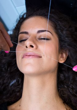 Faden Haare entfernen
