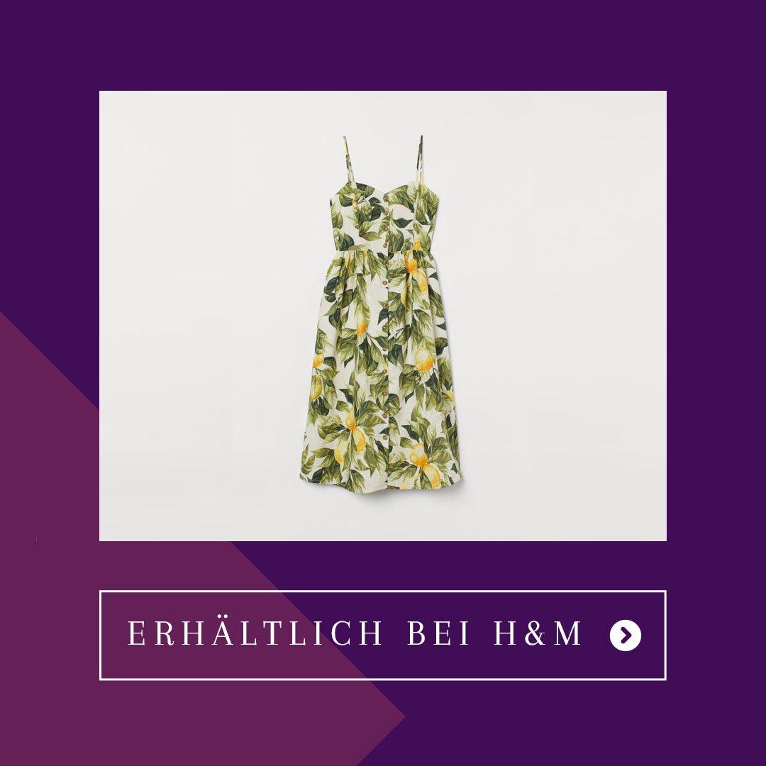 Stacytion H&M Sommerkleid Zitronen Print
