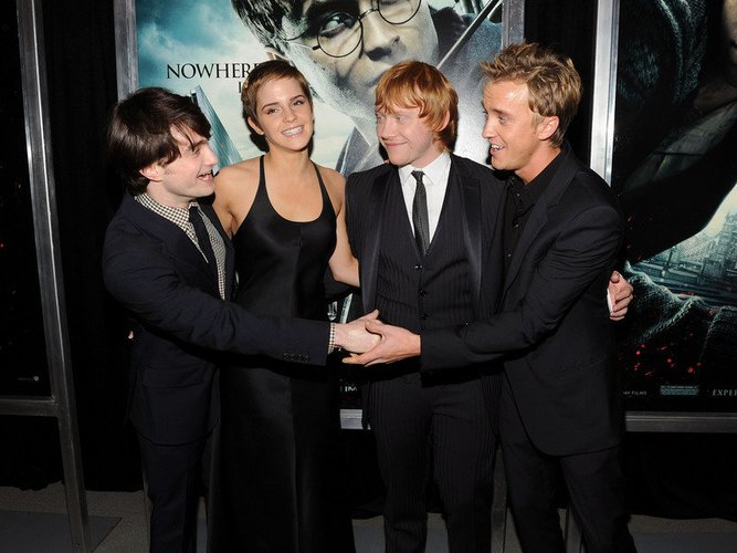 Harry Potter Stars Daniel Radcliffe, Emma Watson, Rupert Grint und Tom Felton