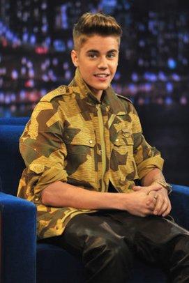 Justin Bieber in einer Late Night Show