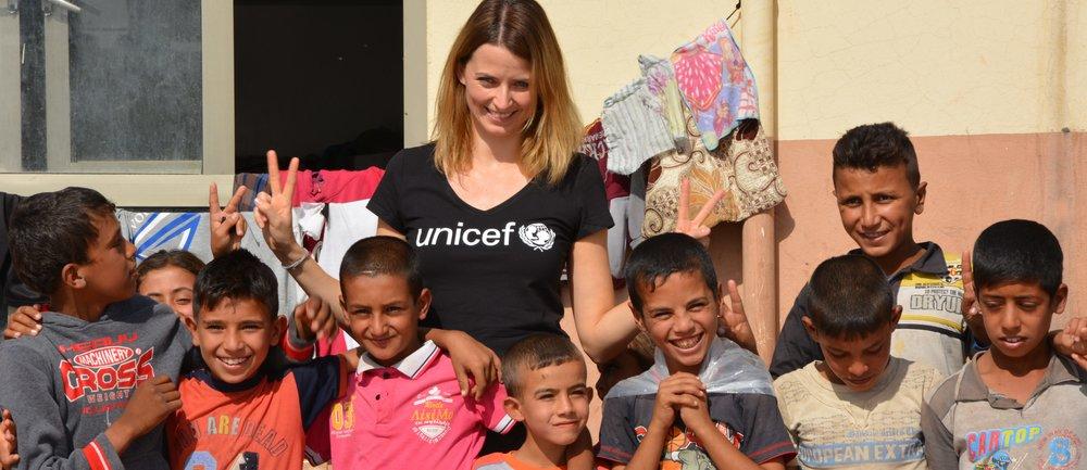 Eva Padberg besuchte Flüchtlingslager im Nordirak im Oktober 2016, zusammen mit Claudia Berger.