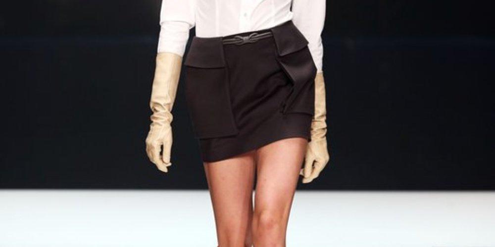 Michalsky auf der Fashion Week Berlin 2013 mit weißer Hemdbluse