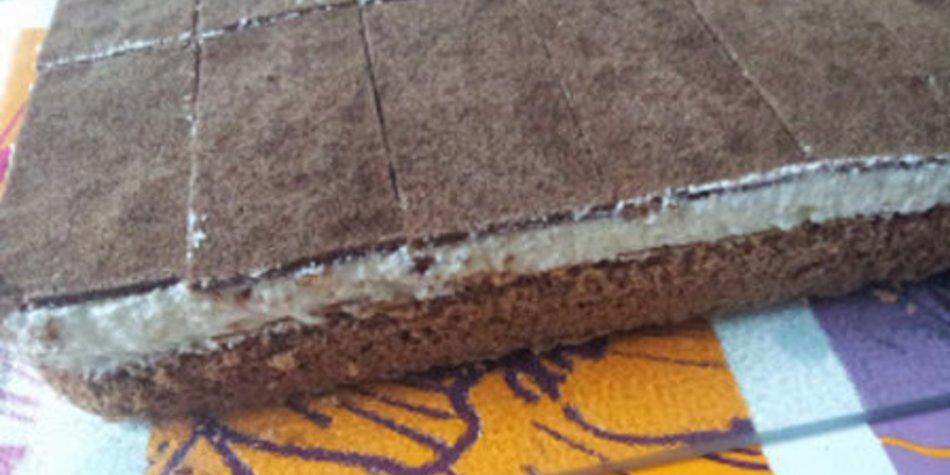 Milchschnitten-Torte schmeckt wie Milchschnitte