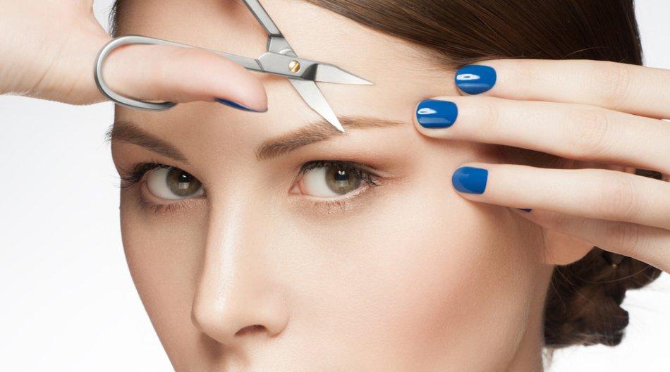 Augenbrauen trimmen