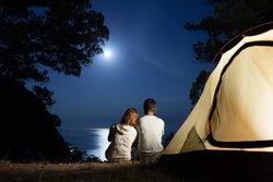 Romantisch Zelten