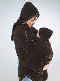 Tragejacke für Mutter und Kind.